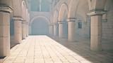 【フリー素材】アニメ風の宮殿・教会・監獄内部 その1