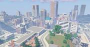 【Minecraft】制作中の現代都市の中心部