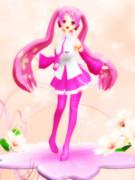 某、桜ミク フィギュア 描き下ろしイラストver.風ポーズのらぶさん