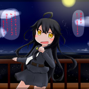 三日月ちゃんを夜景の見える高台に連れてった!