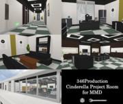 【MMD】Cinderella Project Room【配布】