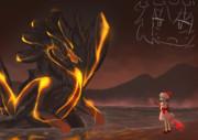 紅魔館を守る為に霧の湖に現れたグランミラオスと戦う事になったおぜう様