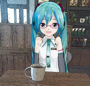 【ミクの日2019】ミクさんとお茶♡