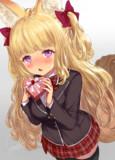 金髪巨乳ケモミミまろ眉の幼馴染み