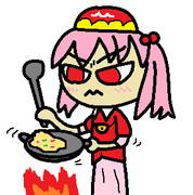 3月10日に炒飯を作る河城みとり