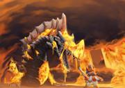 火の海と、炎の竜