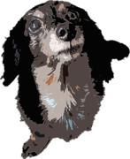 【アッシュ】飼い犬写真イラスト風