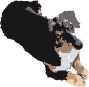 【アッシュ】飼い犬写真イラスト