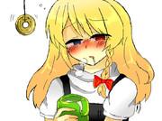 熱いお茶を飲みぽかぽかなSZちゃん