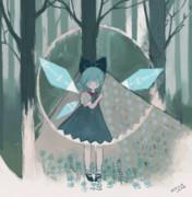 森で出会った氷の妖精