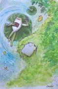 シエスタ峠の風景…フモーとカエルさん