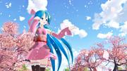 空と雲と桜と初音ミク