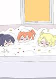 お風呂で食べるかき氷を作り過ぎた星野ひなたちゃん(4話より)