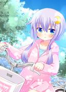 3月18日 自転車の練習をする弥生ちゃん