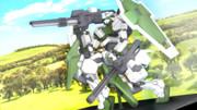 【MMDマイナーモデル使用作】砲撃リベルタフィギュアにジオラマ的な背景を足したぜ