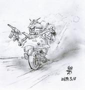 ミノフスキー装輪型MS「ムゥラッター」