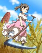 ささらちゃんの小麦刈り~うきウキ!ささら農園~
