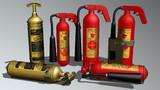 【火遊びすると】U.S.消火器セット【オネショするぞ】
