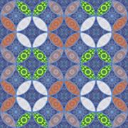パターン 和柄 七宝2