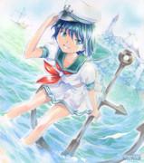 セーラー服美少女船長 ☆セーラームラサ