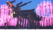 神社と桜と百式改
