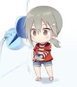 水を吐くアクエリアス・バーテックスを支える三ノ輪銀ちゃん