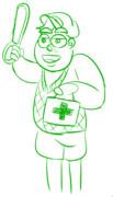 救急箱とキュージ