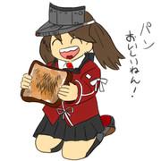 パンを食べる龍驤