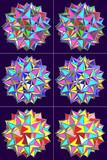 面の表裏を塗り分けた大二重斜方二十・十二面体等