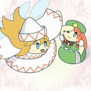 春を告げるリリーホワイトと美鈴