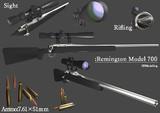 3Dモデル Remington Model700