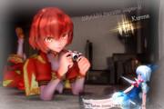 深紅の少女と氷の妖精