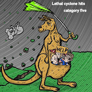 オーストラリアにサイクロン襲来