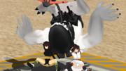 ダイソンの艤装を撃破する伊勢型姉妹