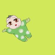 じゅうしで覚えた描き方の赤ちゃん。