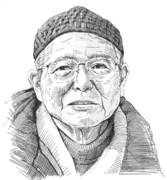 追悼画:織本順吉さん