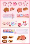 【MMD】桜のお菓子セット【アクセサリ配布】