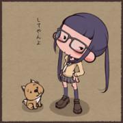 メガネとデコとイヌ