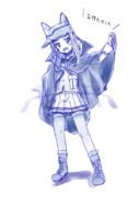 【ガルパン】伯爵高校の隊長の想像図 / 樅の木と鉄の羽の魔女