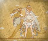 【壁画】 ケルベロスと桜