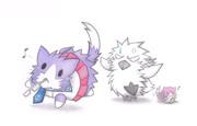 酒匂猫を追いかけるグー提督