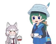 イエイヌちゃんのお茶でキメるともえちゃん