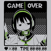 Tシャツ「GAMEOVER」