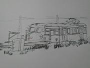 引き込み線と工事電車