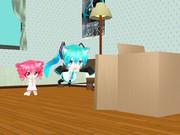 【MMD】 箱と猫