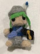 羊毛フェルト人形のともえちゃん