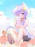 3月31日  子猫と遊ぶ弥生ちゃん