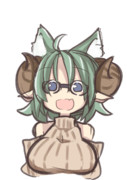 猫耳たてセタ眼鏡メスドラフちゃん(属性過多)描きたかっただけ
