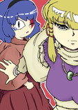 イメ諏訪子と蛇眼神奈子様