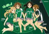 松本山雅FC×けいおん! 田井中律'05 琴吹紬'06 秋山澪'07 平沢唯'08
